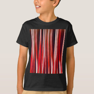 Impulsive Adventure Red Striped Abstract Pattern T-Shirt