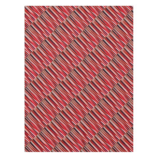 Impulsive Adventure Red Striped Abstract Pattern Tablecloth