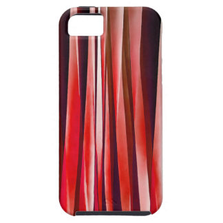Impulsive Adventure Red Striped Abstract Pattern Tough iPhone 5 Case