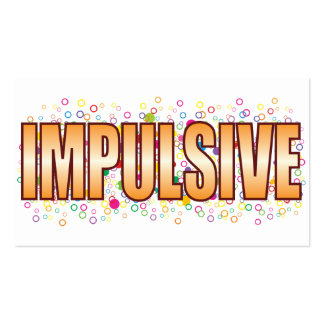 Impulsive Bubble Tag Pack Of Standard Business Cards