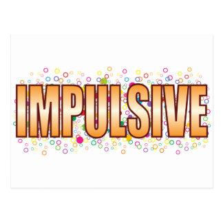 Impulsive Bubble Tag Postcard
