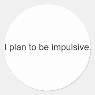 Impulsive Round Stickers