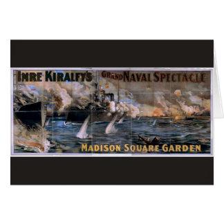 Imre Kiralfy's, 'Madison Square Garden' Retro Thea Greeting Card
