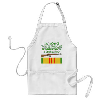 In 1969 The Only Woodstock I Remember Vietnam Standard Apron