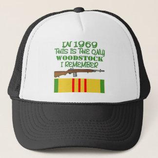 In 1969 The Only Woodstock I Remember Vietnam Trucker Hat