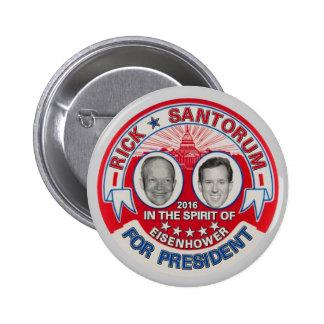 In 2016: Rick Santorum 6 Cm Round Badge
