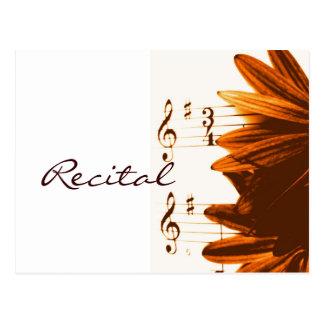In 3/4 Time Music Recital Invitation Postcards