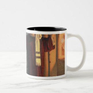 In a catacomb, 1900 Two-Tone coffee mug