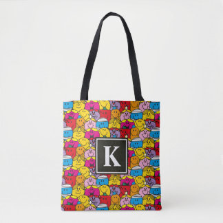 In A Crowd Pattern | Monogram Tote Bag
