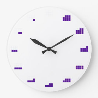In A Fraction of Time:  by twelths Large Clock