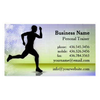 In A Heartbeat Ver 2 - Personal Trainer Business Card Templates