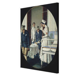 In a military Hospital Canvas Print