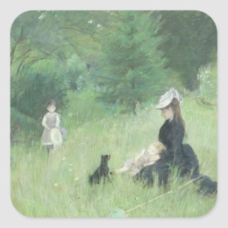 In a Park, c.1874 Square Sticker