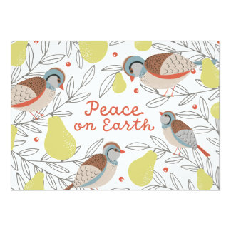 In a Pear Tree Corporate Holiday 13 Cm X 18 Cm Invitation Card