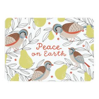 In a Pear Tree 13 Cm X 18 Cm Invitation Card