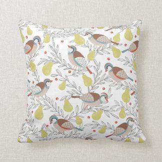 In a Pear Tree Throw Cushion