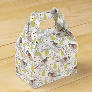 In a Pear Tree Wedding Favour Boxes