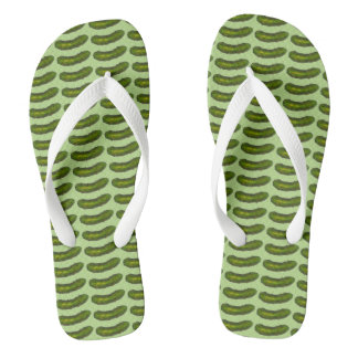 In a Pickle Green Dill Pickles Foodie Flip Flops