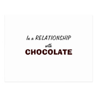 In a Relationship with Chocolate Postcard