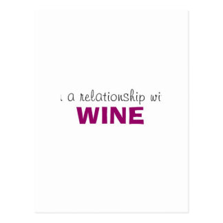 In a Relationship with Wine Postcard