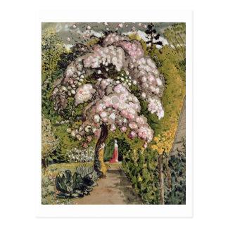 In a Shoreham Garden (w/c) Postcard