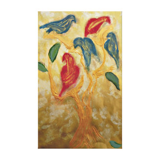 In A Tree Of Gold Canvas Print