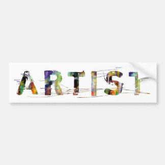 In A Word: Artist Bumper Sticker