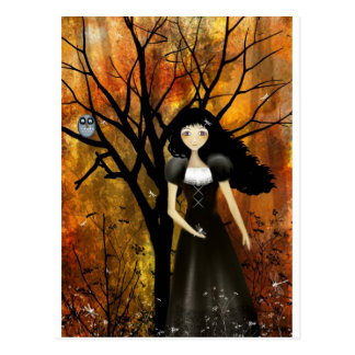 In an Autumn Forest Postcard