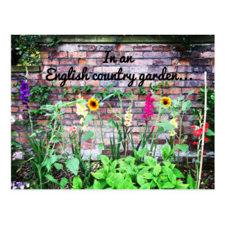 In an English Country Garden Flowers Postcard