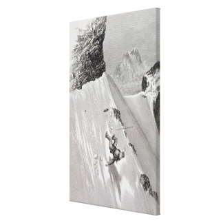 'In Attempting to Pass the Corner I Slipped and Fe Stretched Canvas Print