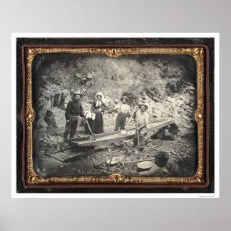 In Auburn Ravine, 1852 by Joseph Blaney Starkweath Poster