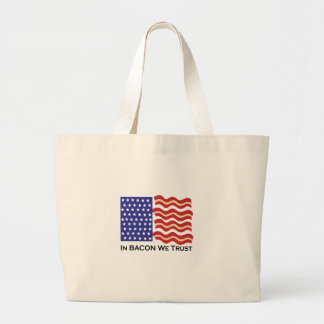 In Bacon We Trust Canvas Bag