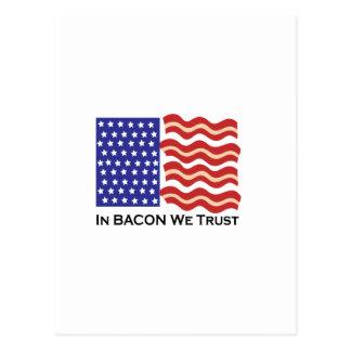 In Bacon We Trust Postcard