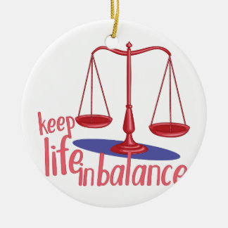 In Balance Round Ceramic Decoration