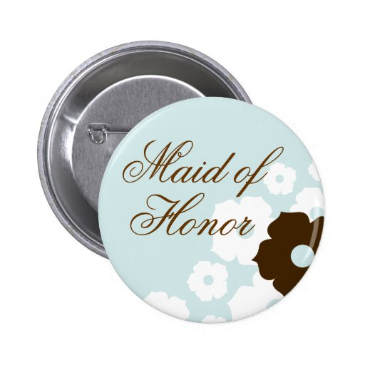 In Bloom Maid of Honour Button