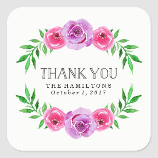 In Bloom | Wedding Thank You Square Sticker