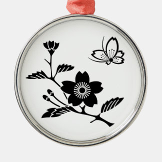 In branch cherry tree medium shade cherry tree Silver-Colored round decoration