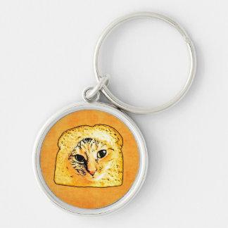 In Bread Cat Key Ring