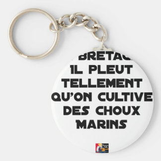 IN BRITTANY, IT RAINS SO MUCH THAT ONE CULTIVATES KEY RING