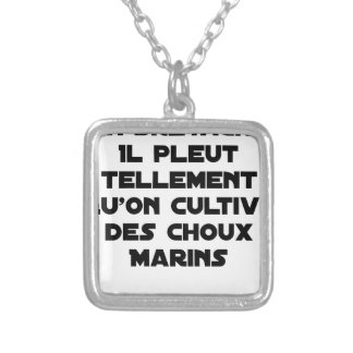 IN BRITTANY, IT RAINS SO MUCH THAT ONE CULTIVATES SILVER PLATED NECKLACE