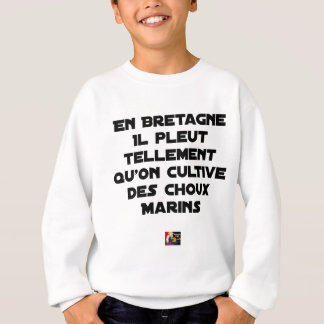 IN BRITTANY, IT RAINS SO MUCH THAT ONE CULTIVATES SWEATSHIRT