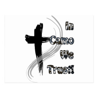 In Camo We Trust Gifts for Hunters Postcard
