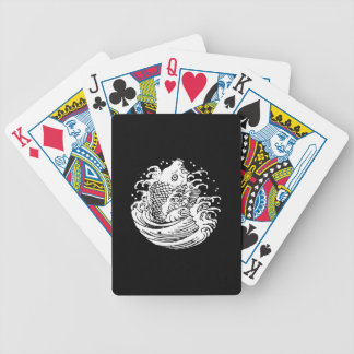 In carp water bicycle playing cards