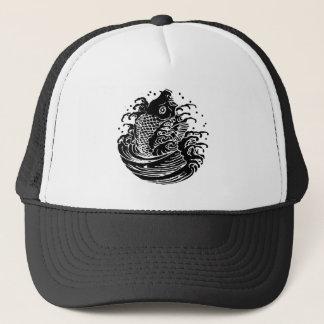 In carp water trucker hat