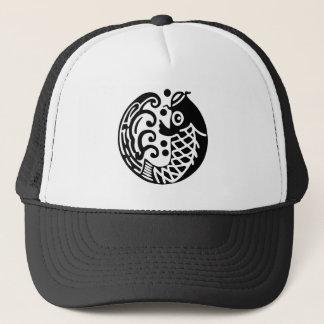 In carp wave trucker hat