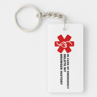 In Case of Emergency Delete My Browser History Key Ring