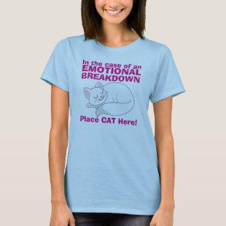 In case of Emotional Breakdown Cat t-shirt