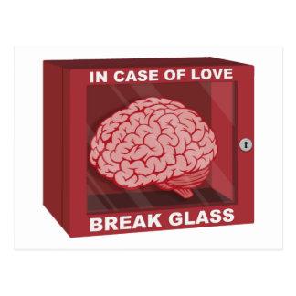 In Case Of Love, Break Glass and Use Brain Postcard