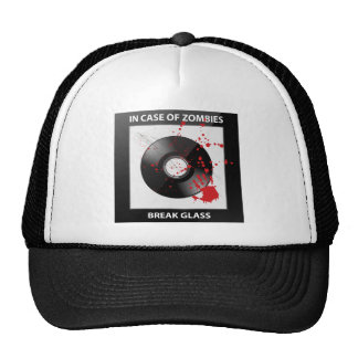 In Case Of Zombies Break Glass Hat