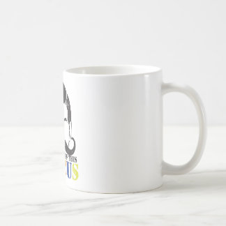 In charge of this circus distressed rough version basic white mug
